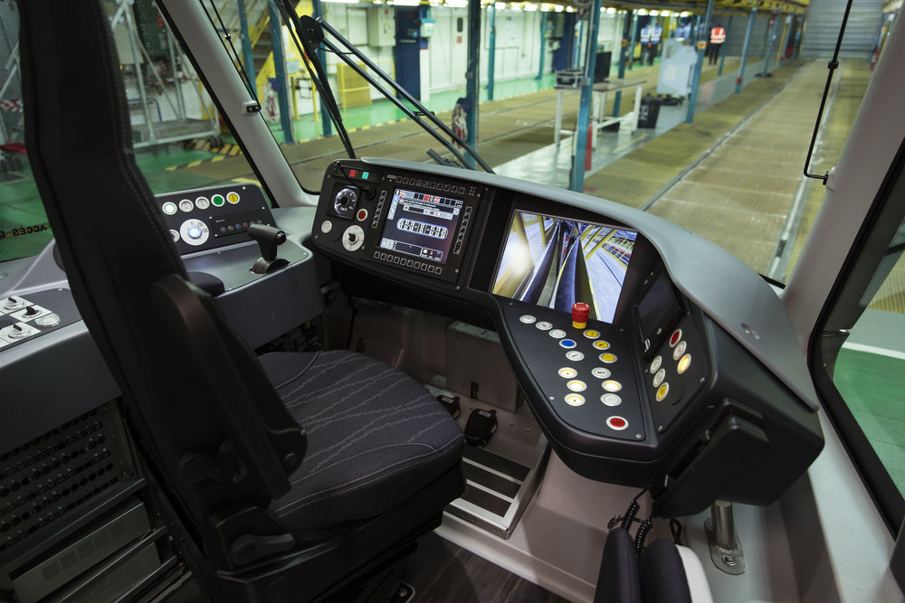 Stanoviště řidiče nové tramvaje Citadis X05 pro Nice.(foto: Alstom)
