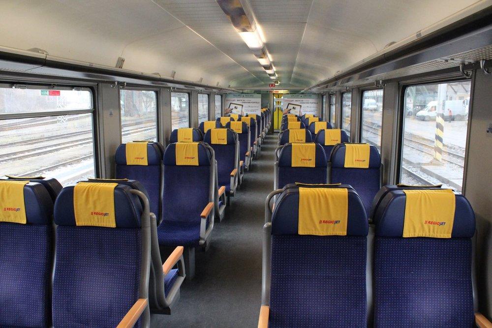 Třída Low cost v RegioJetu. Pro cestující s ODISkou je vyhrazeno 40 míst. (foto: RegioJet)