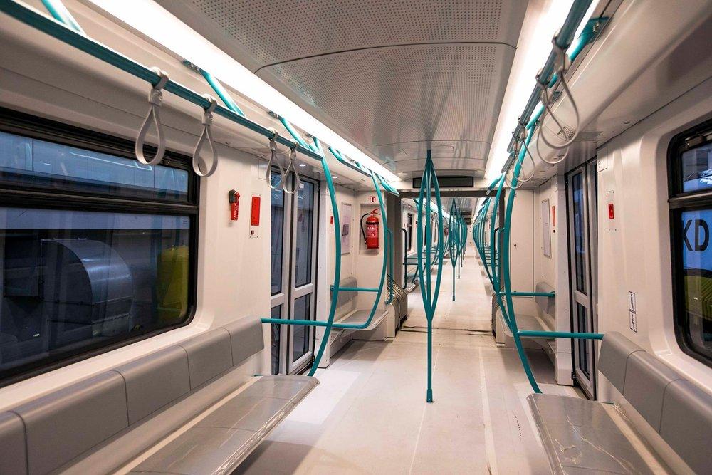 Pohled do interiéru nové jednotky metra pro Sofii. (foto: Newag)