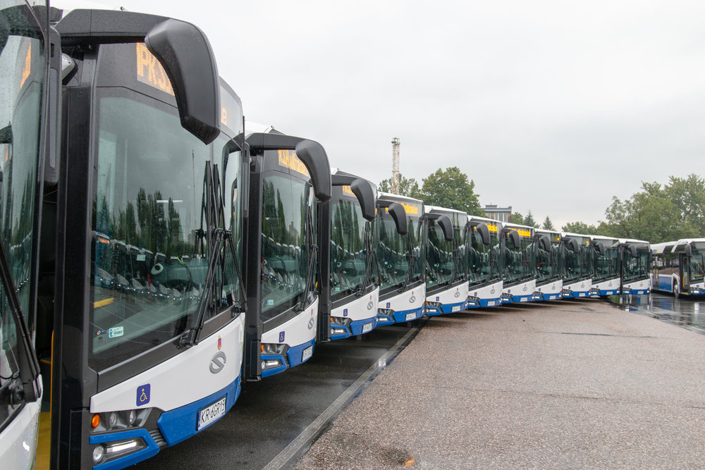 Flotila nových autobusů Urbino 18 pro MPK Kraków. (foto: Solaris Bus & Coach)