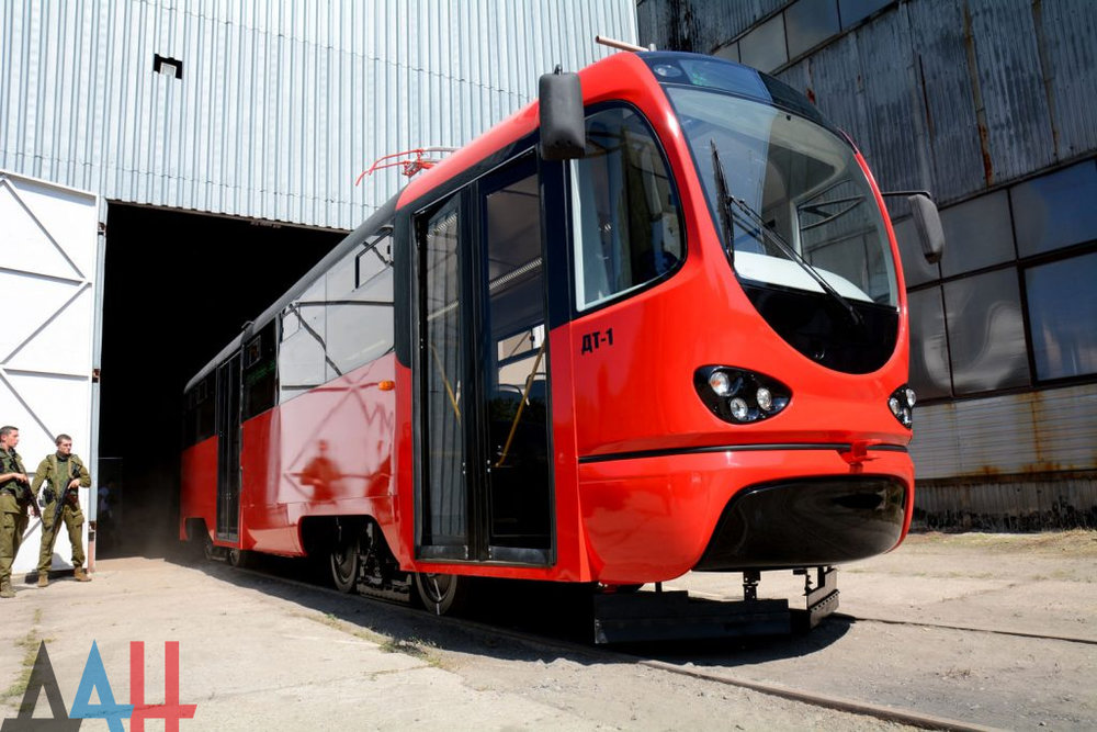 Polonová tramvaj na prezentaci dne 21. srpna 2018. (foto: Донецкое Агентство Новостей)