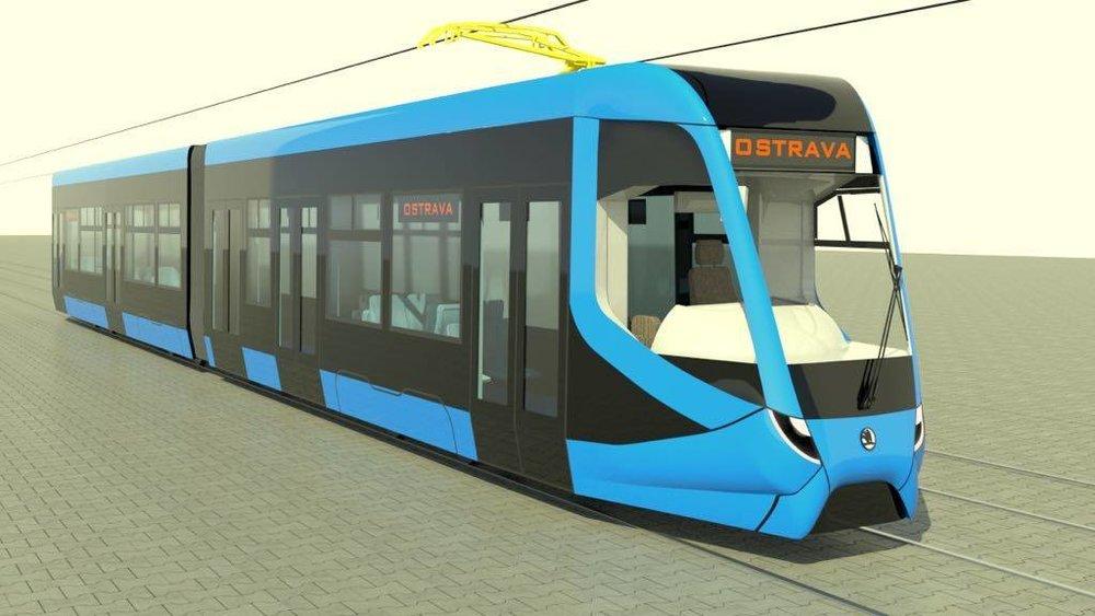Nová tramvaj nemá definitivní podobu. Ačkoli se očekávalo, že bude nový vůz tříčlánkový, nakonec bude mít články jen dva. (zdroj: DPO)