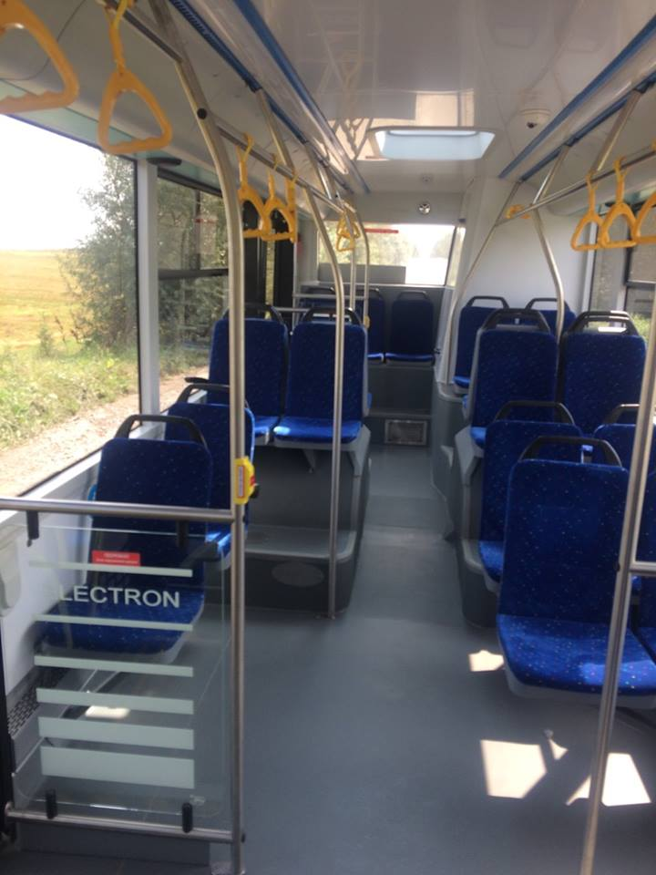 Pohled do interiéru autobusu Electron. (foto: město Užhorod)