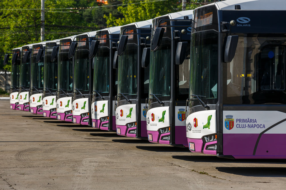 Flotila elektrobusů pro město Kluž. (foto: Solaris Bus & Coach)