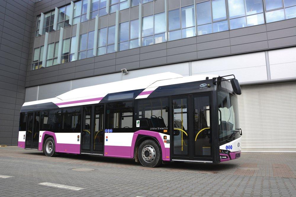 Elektrobus Solaris Urbino 12 electric pro Kluž. (foto: Solaris Bus & Coach)