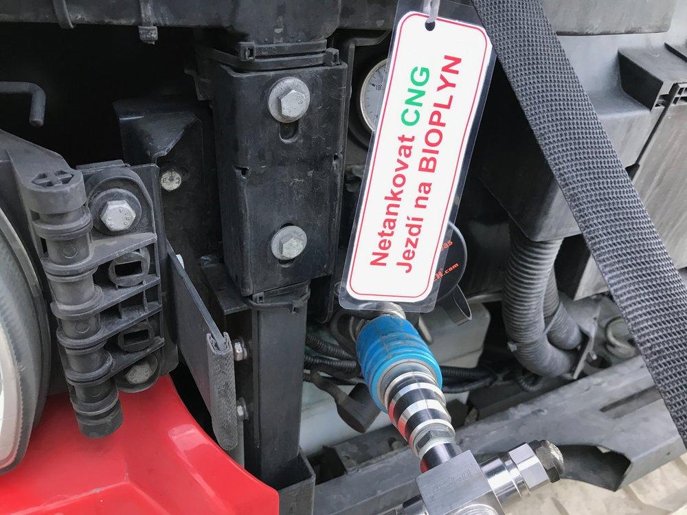 Autobus ev. č. 7085 bude po dobu testování plněn pouze bioplynem. (foto: DPMB)