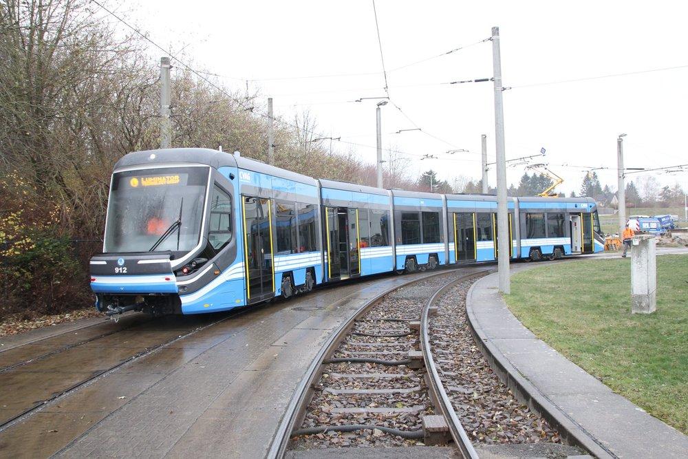Tramvaj Škoda 3T pro Chemnitz během zkušební jízdy. (foto: CVAG)
