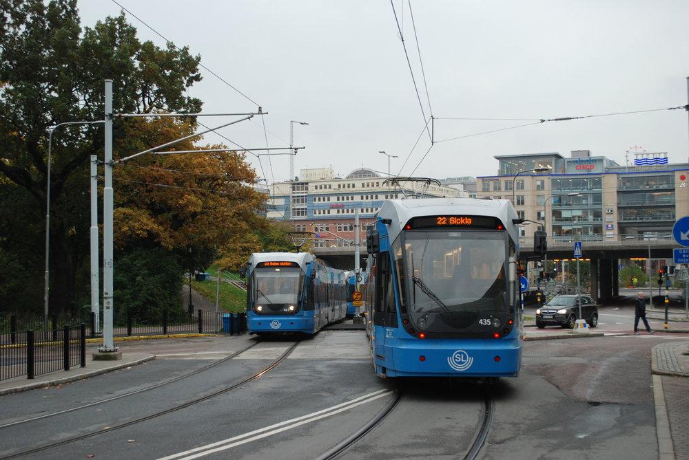 Tramvaje ve Stockholmu. (foto: Libor Hinčica)