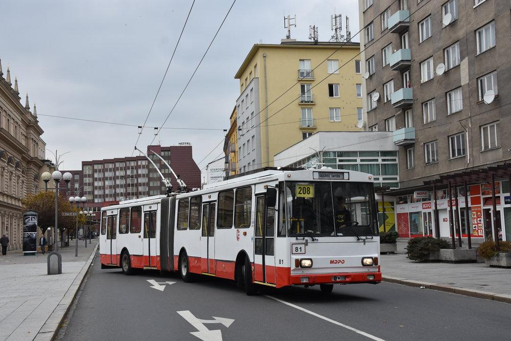 Trolejbus Škoda 15 Tr v opavském provedení. (foto: Libor Hinčica)