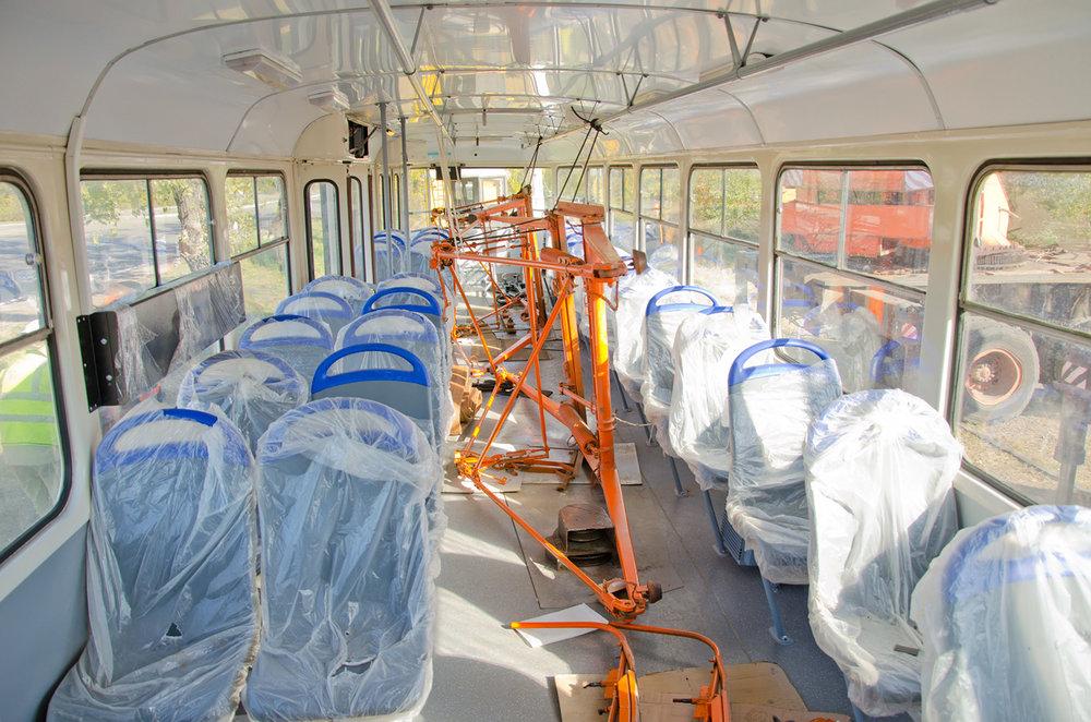 Tramvaje procházejí před příchodem do Mariupolu částečnou modernizací.