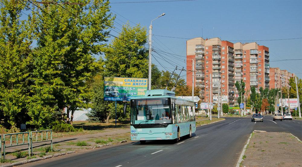 Na snímku z 22. října 2018 jeden ze dvou letos dodaných slavjanských trolejbusů. (foto: TRalex)