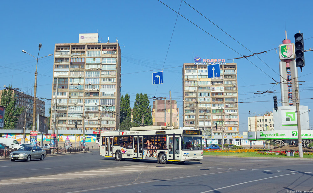Trolejbus Dnipro-T103 v Krivém Rogu dne 31. srpna 2018. (foto: Danil Něstěrenko)