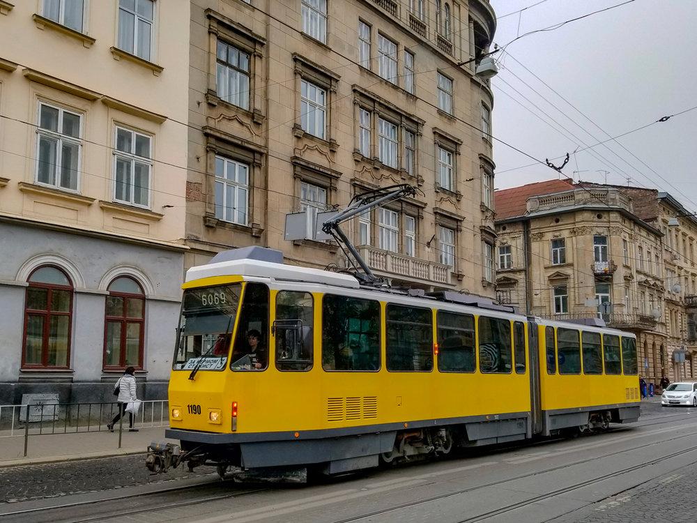 Ex-berlínská tramvaj na snímku z 20 října 2018. (foto: Vladimir Ch.)