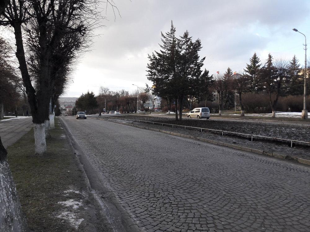Ulice ve východní části města.