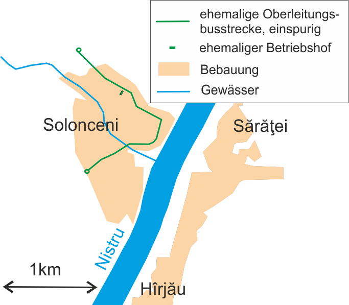 Plán tamní trati i s bývalou měnírnou (není zcela přesný, např. měnírna byla na opačné straně, viz níže). (zdroj: Wikipedia.org)