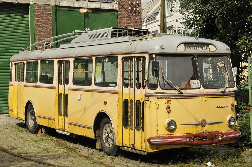 Historický trolejbus Škoda 9 Tr v Bergenu. (zdroj: Wikipedia.org)
