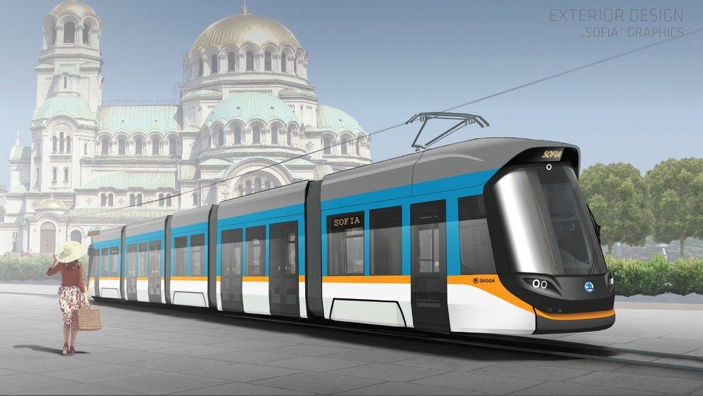 Předběžná vizualizace tramvaje Škoda ForCity Sofie se ukázala nakonec až příliš předběžná. Škodovku v létě 2018 z tendru v Bulharsku vyloučili. (foto: Škoda Transportation)
