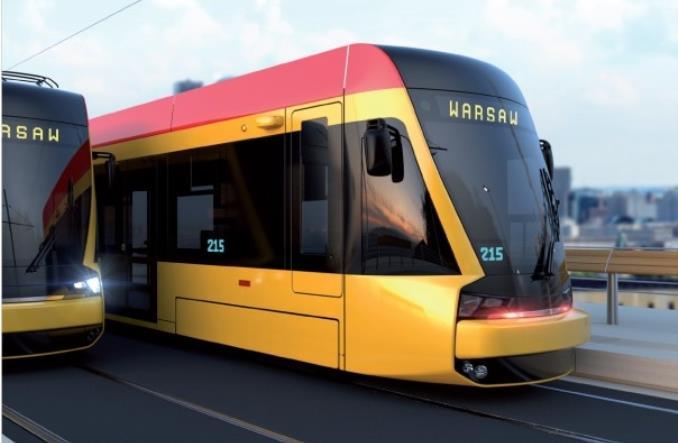 Vizualizace vzhledu nových tramvají pro Varšavu. (foto: Hyundai Rotem)