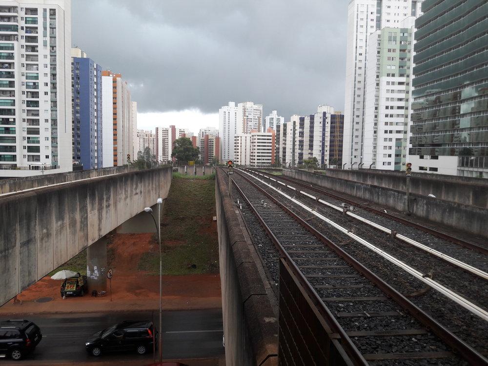 Pohledy směrem k Brasílii.