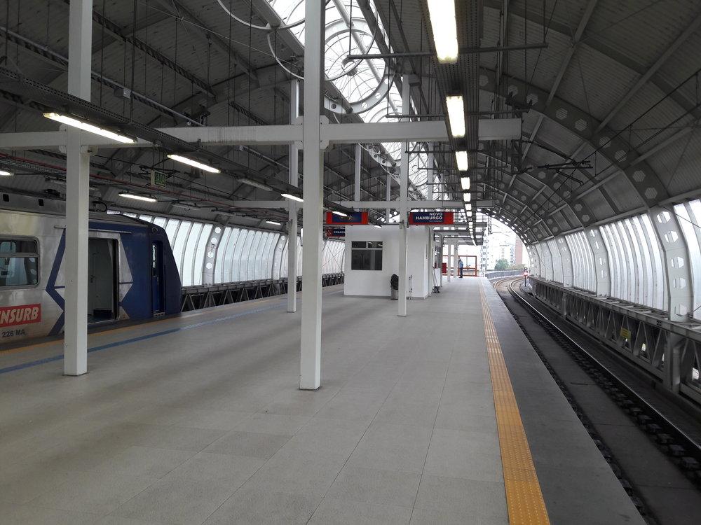 Konečná stanice Novo Hamburgo.