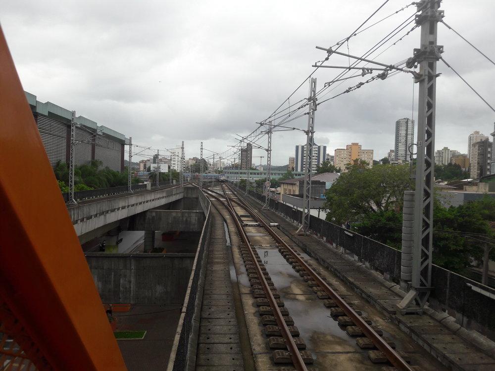Takto je trať v Novo Hamburgo ukončena.