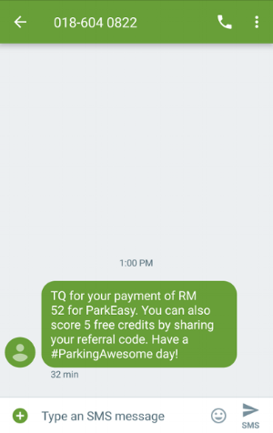 (6) you will receive aN SMS confirmation for  your payment. HOORAY! :d
