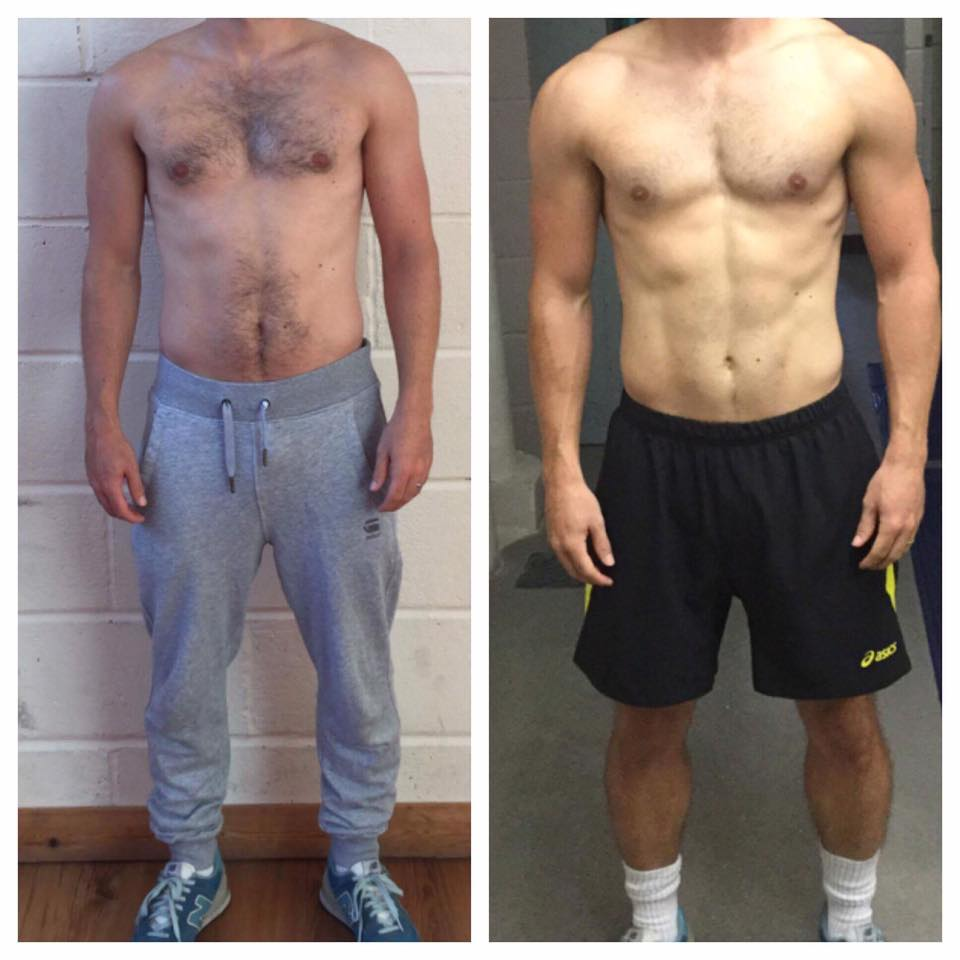 """Being an inconsistent gym goer I needed some extra motivation and always wanted to achieve every mans dream of a 6 pack!  After starting with Alex he made it clear that we would work on all areas and give me something that can be maintained easily so it becomes a lifestyle rather than fall off the tracks.  Over the course of 12 weeks seeing Alex twice a week plus implementing different foods and calories I was able to achieve what we set out. Using the high fat and low carb diet worked well for me. This allowed naughty days aslong as other days were strict.  I shall keep on top of it myself more plus still be using Alex on a weekly basis to make sure we do not lose the hard work put it and keep improving my physique""  - Dan Ringer"