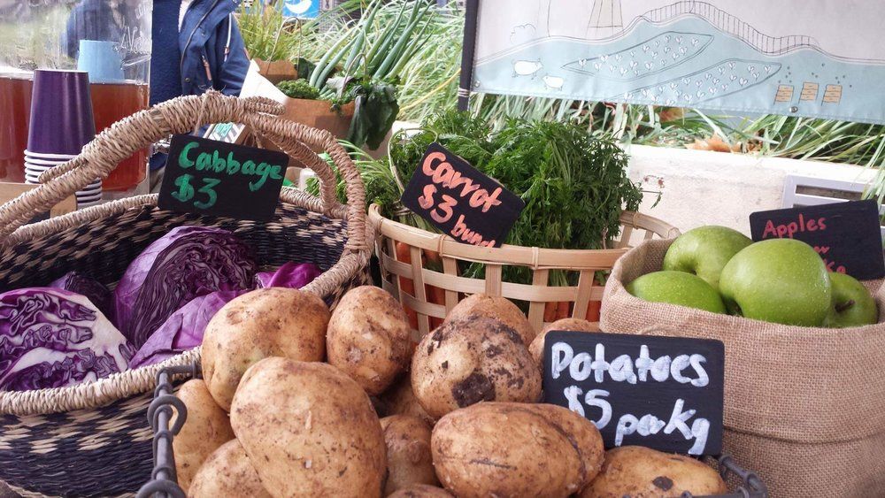Fresh seasonal vegetables, grown locally just for you!