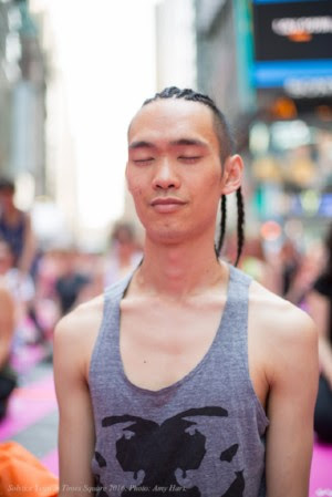 - Urban Yoga Foundation teacher alum, Colin Lieu, will be teaching a free public yoga class on the streets of Times Square. Register now to join him and thousands of other New Yorkers as one of the city's busiest streets close down for a moment of mindfulness.