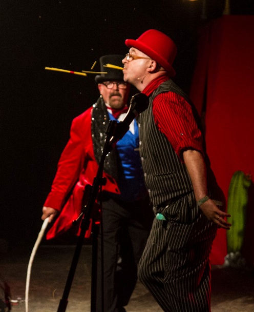 Gamble and Wells Mavericks Cabaret Glastonbury Festival 2014.jpg