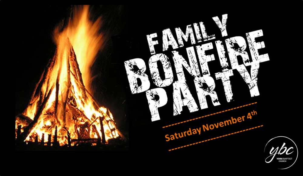 Come and join in the fun - a great fire, fantastic fireworks and loads of lovely food! There is no charge for the evening. Donations towards the fireworks can be made but are not necessary - please do not bring fireworks with you other than sparklers. It's for all the family and will conclude by 8pm with a short talk.