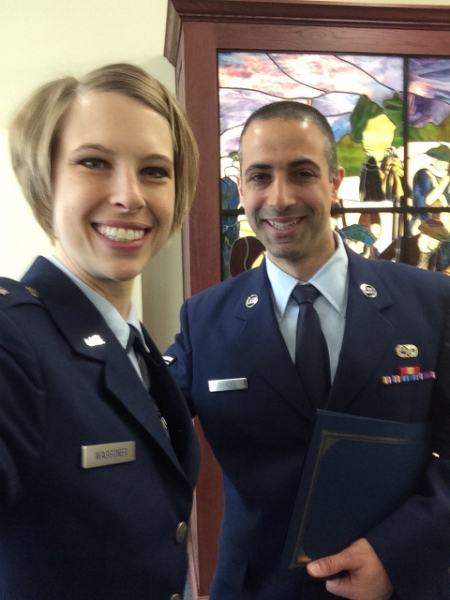 Me and my Chaplain Assistant for the course, on graduation day!