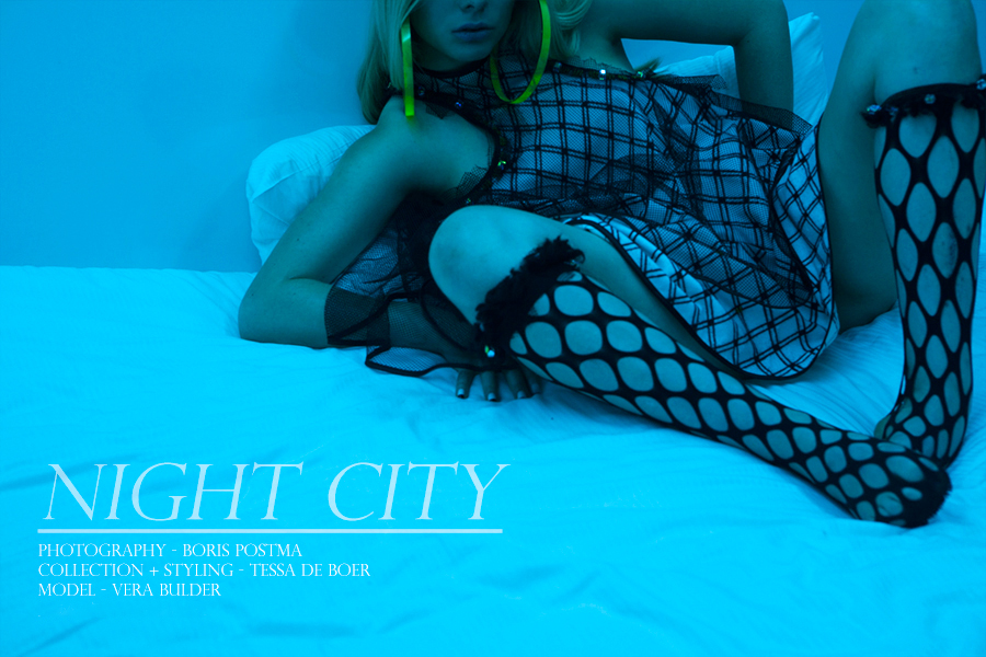 Story - Night City Photography - Boris Postma Collection + styling  - by Tessa de Boer Model - Vera Lesavoy