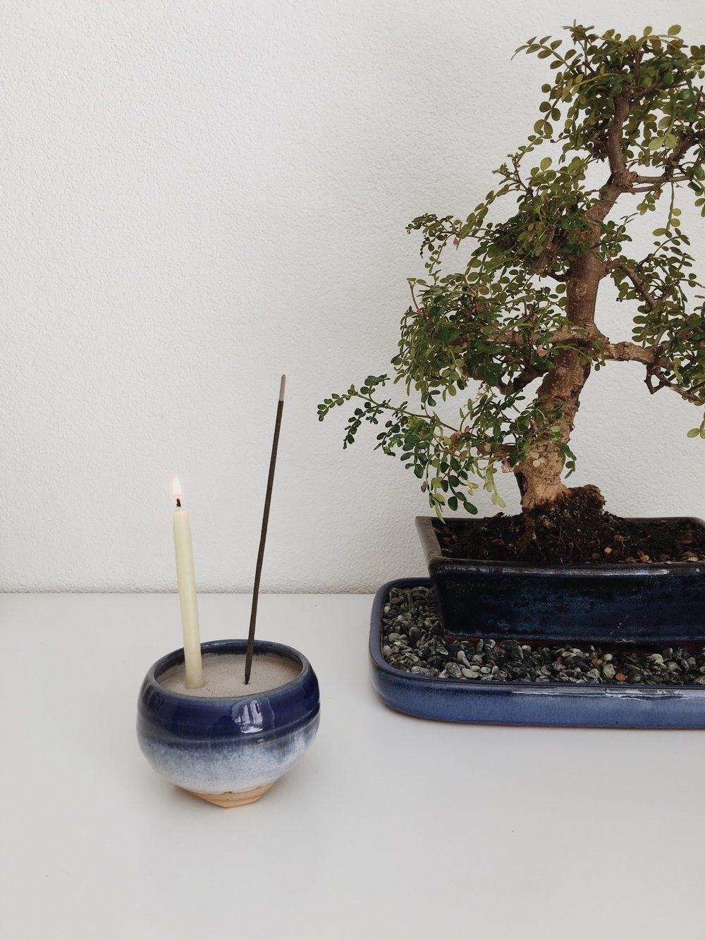 Incense bowl shoyeido, incense, handmade Prayer candle