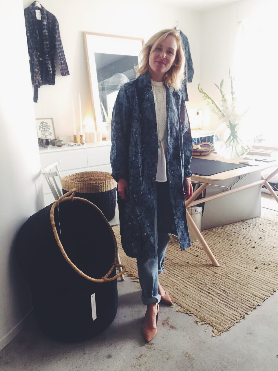 Constellation Kimono Ghana Indigo Spirit Collection KathrinEckhardtxBurninglights, baskets KathrinEckhardt