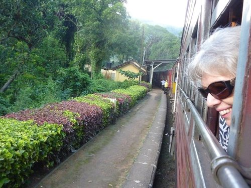 A guest begins her train journey