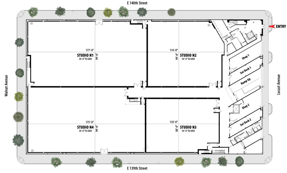 Silvercup North Lot Floorplan:  The information in these floor plans is subject to change. Silvercup Studios is not responsible for any errors or omissions