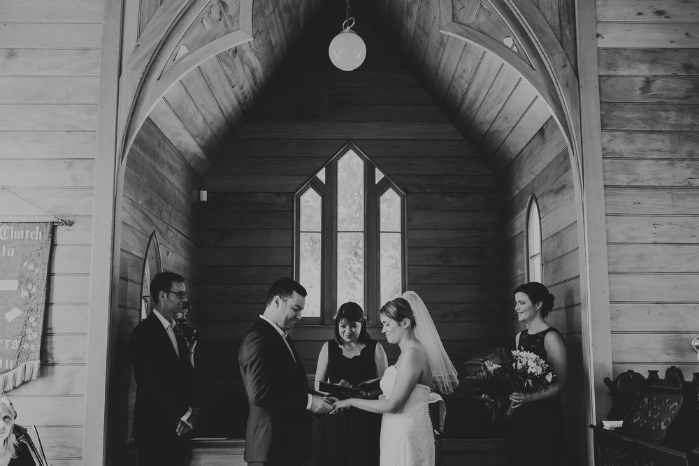 Andrea's shoulder length veil complemented perfectly her short dress - a stunning look!  Andrea and Ben, Taita Church, 2016.  Photo Patina Photography