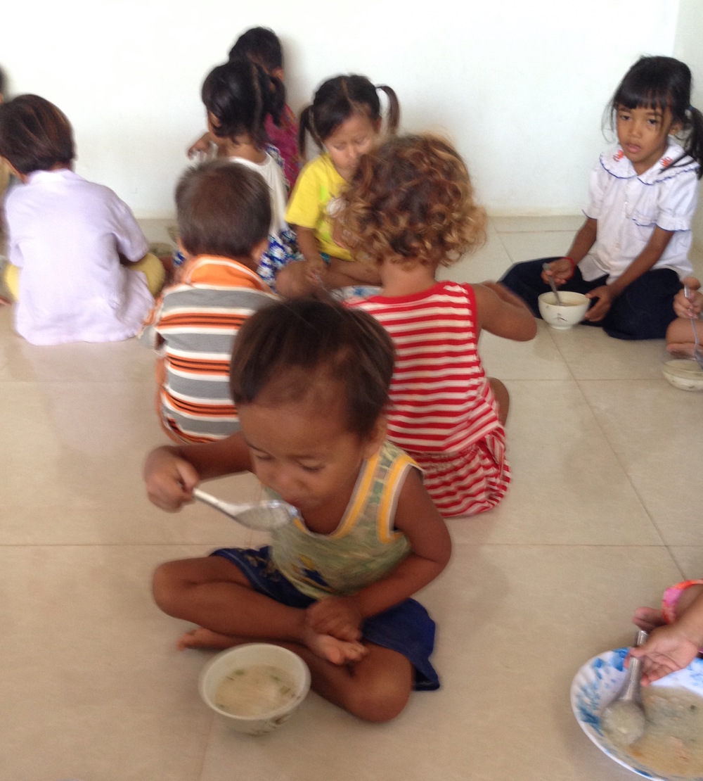 Providing a nutritious meal once a day makes all the difference.