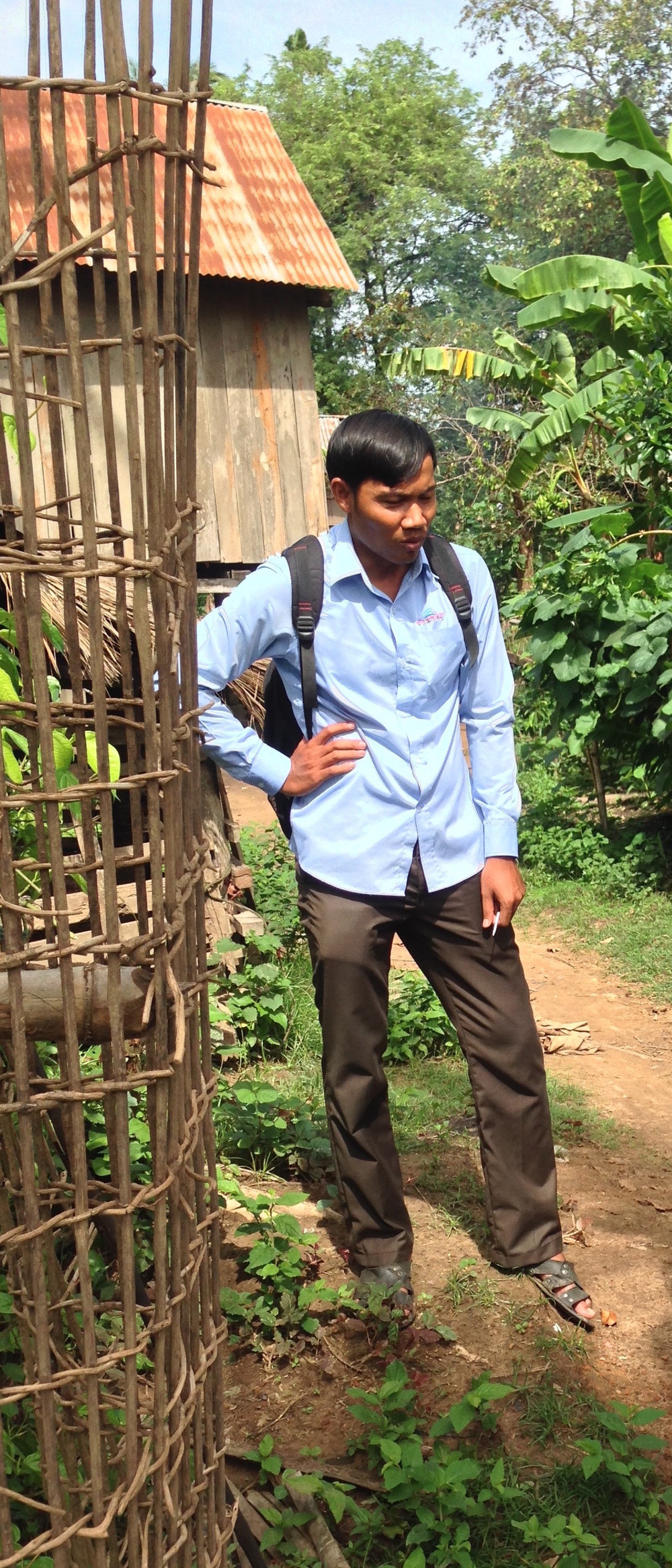 Nhap Piseth who looks after the pastors' ministry in Stung Treng