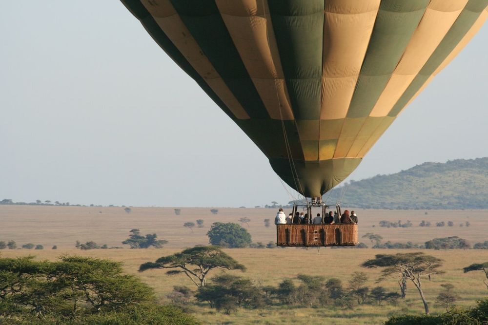 BALLOON SAFARI  Fly high. Enjoy a champagne breakfast.