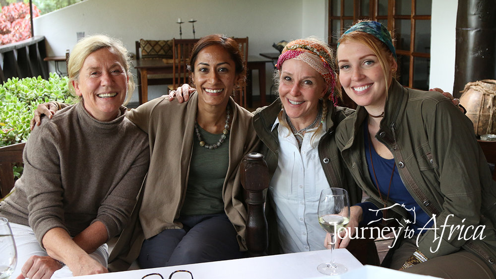 That is me, Mefi, second from left with Renate, on the left and my two Houston clients on Tanzania with Mefi Safari.