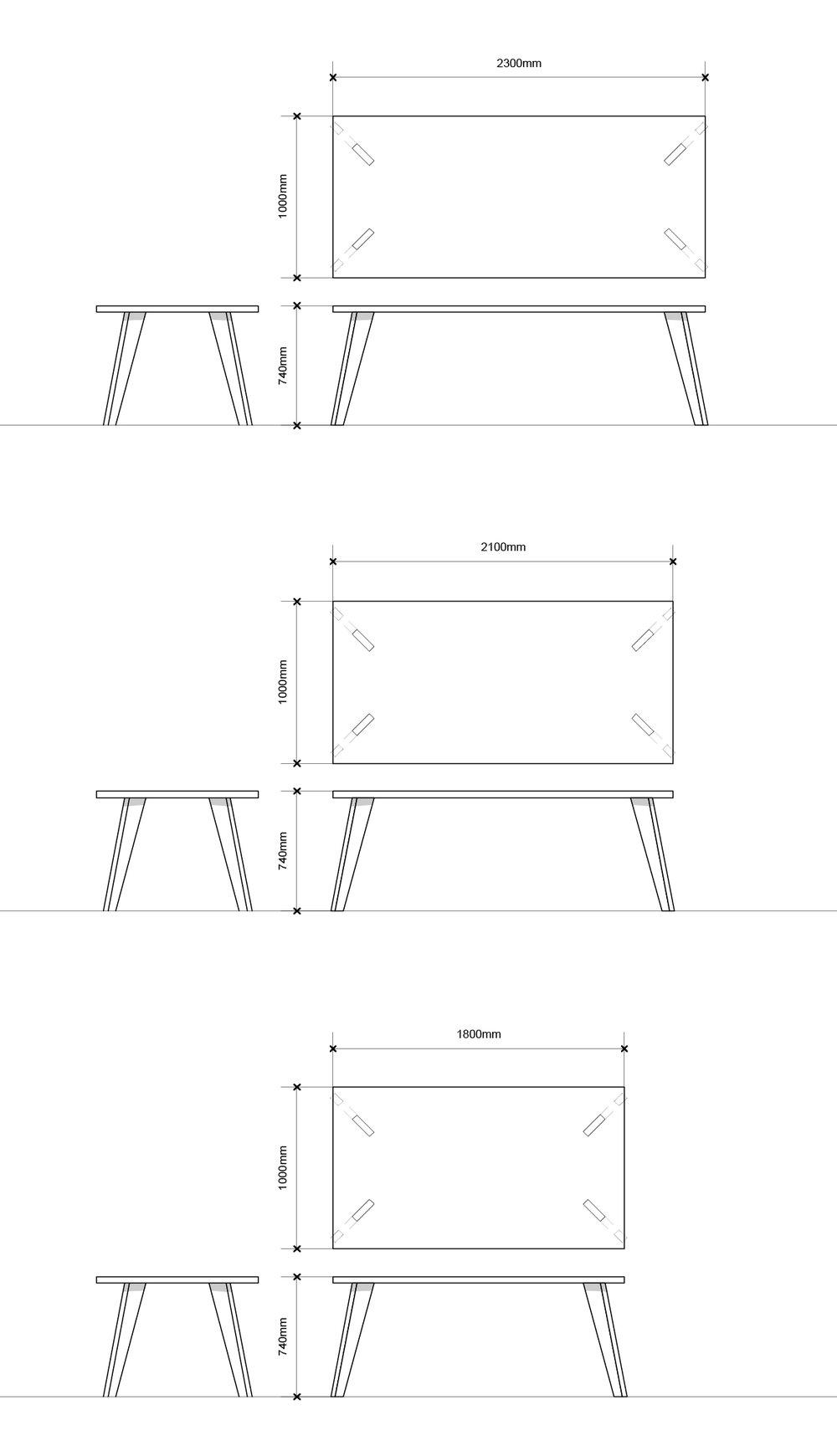 Afmetingen eetkamertafel| studiobuijs| meubelontwerp