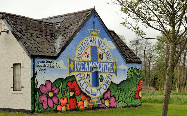Mural painted by young people in Milltown