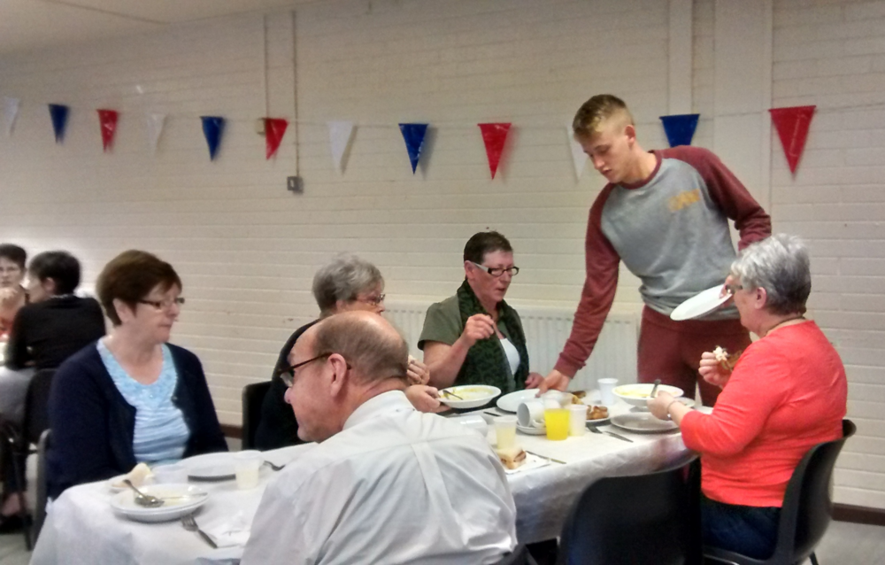 Seniors' Tea Party hosted by young people
