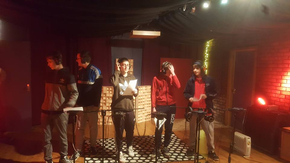 February  - You'd be forgiven for thinking our lads were recording a few lines for the new Band Aid single. In fact, this was part of a  short course  put on by the Oh Yeah! Centre in Belfast, through which our young people were able to write, perform and produce their own spoken word song.