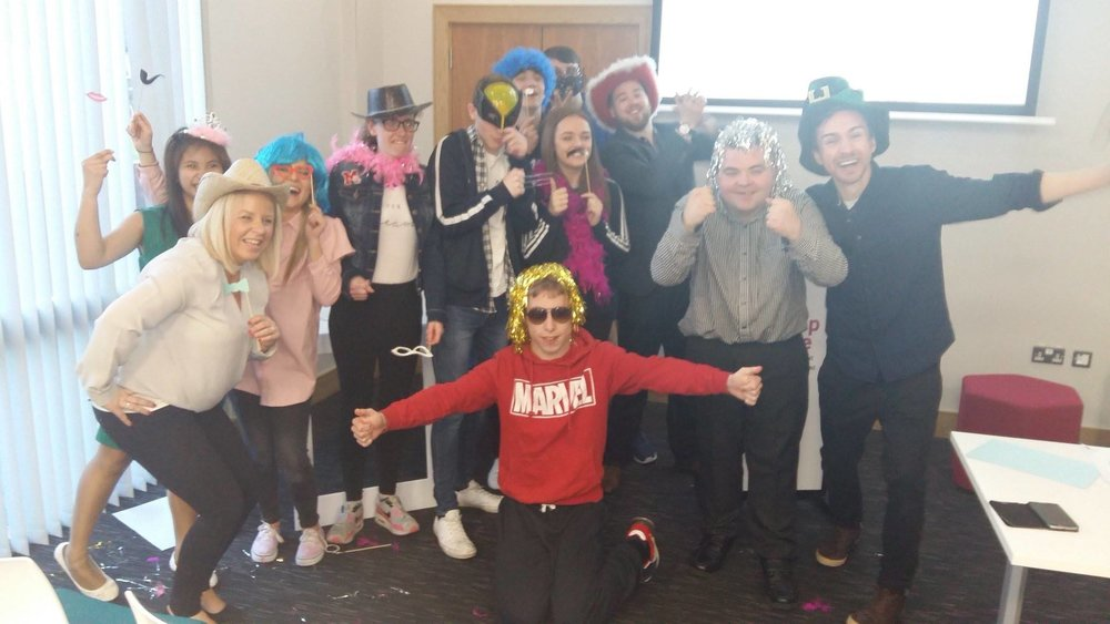 March  - This photo sums up our  Mencap project  very well. A few of our young people worked alongside a group from Mencap in a series of creative workshops put on by the MAC Theatre in Belfast.