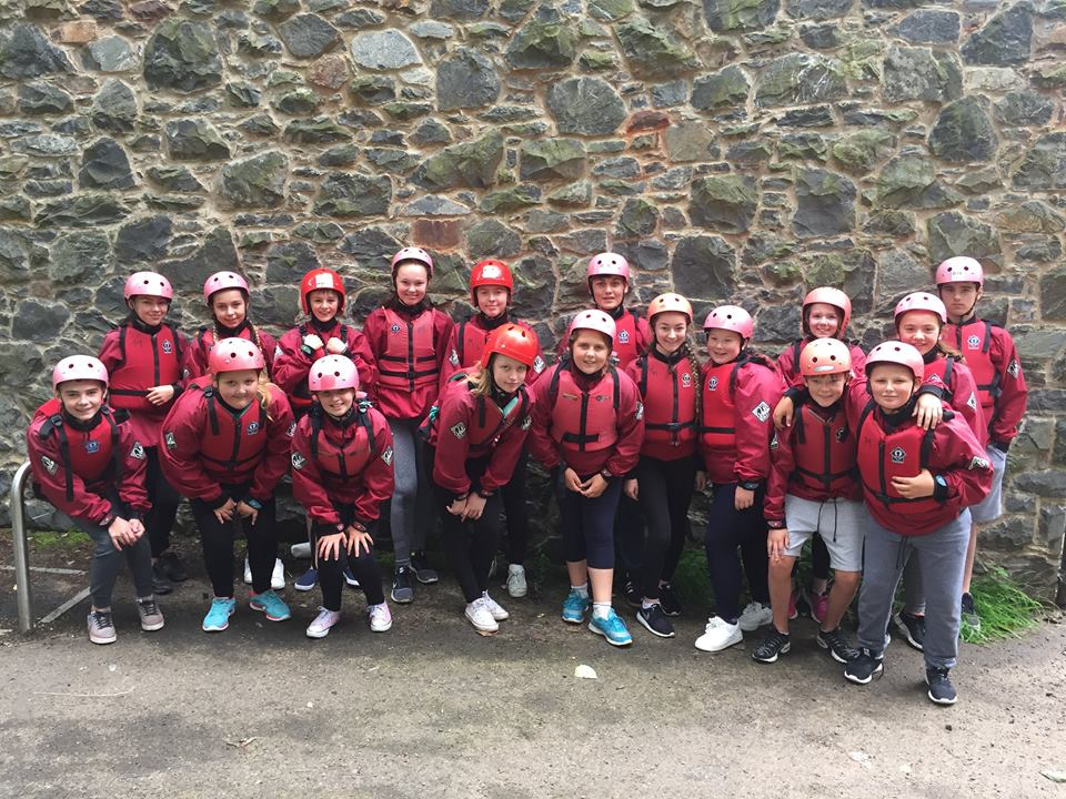 August  - Our Braniel group gearing up to do some kayaking as part of our summer scheme!