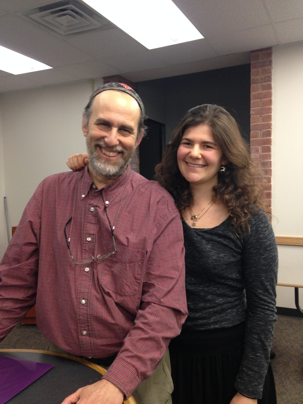 Rabbi Cohen and his daughter Shirah Hill-Cohen '16