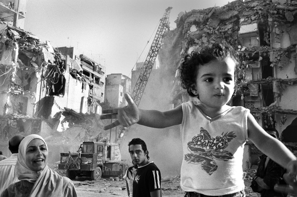 Destruction in Beirut following the 2006 Lebanon war portrayed in Matar's photography